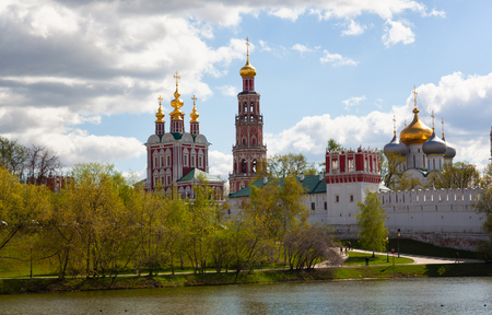 russian orthodox: Russian orthodox churches in Novodevichy Convent monastery, Moscow, Russia