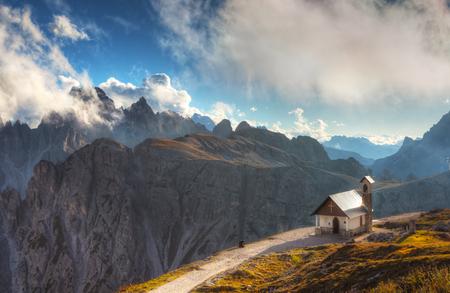 Capilla de los Alpini (Cappella degli Alpini), Tre Cime Di Lavaredo, Rifugio Auronzo, Italia