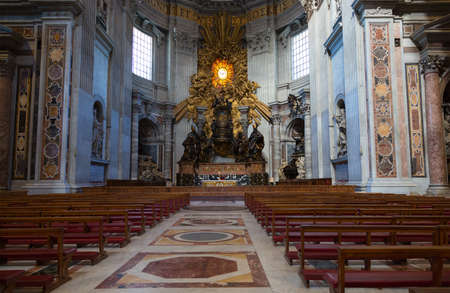 VATICAN - SEPTEMBER 23, 2015. St Peters Basilica. St. Peters Cathedral - a Catholic cathedral, the central and largest construction of Vatican, the largest historical Christian church in the world.