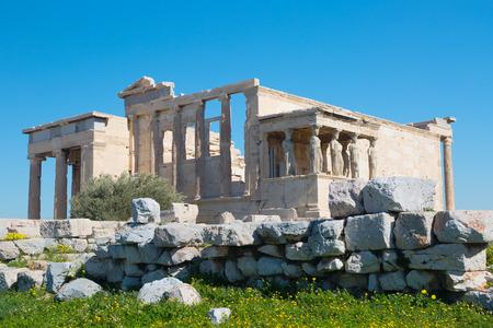 Erechtheion on the Acropolis at Athens. Greece