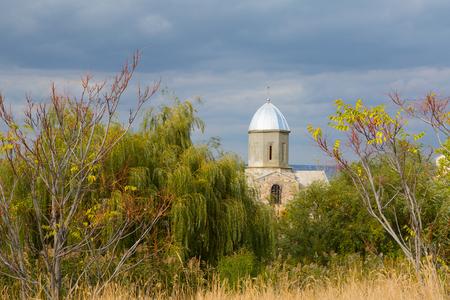 Ancient Armenian stone church in Feodosia, Crimea