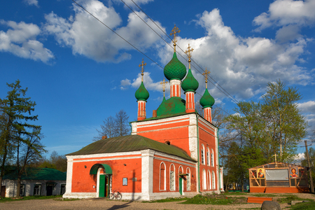 Church of Alexander Nevsky, Pereslavl-Zalessky, Russia. Gold Ring of Russia Editorial