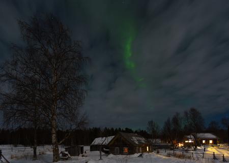 Aurora borealis Green , Russia