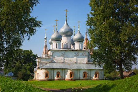 Holy cross Cathedral. Tutaev, Russia Stock Photo