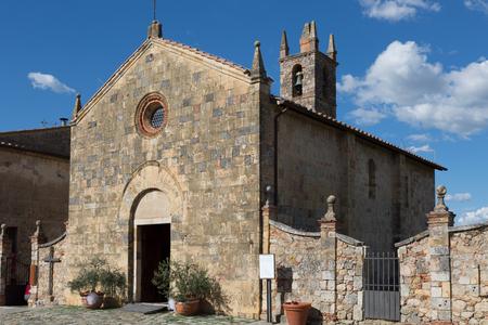 Santa Maria Assunta church in Monteriggioni, Tuscany