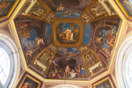 VATICAN CITY, VATICAN, SEPTEMBER 23, 2015 : interiors and architectural details of the Vatican museum