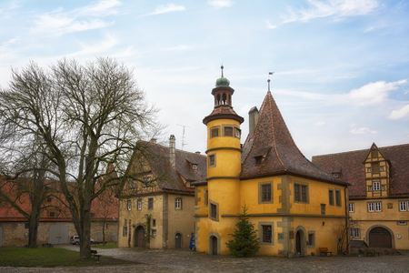 Ancient Hegereiterhaus at Rothenburg ob der Tauber, Franconia, Bavaria, Germany