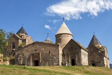 Goshavank-Armenian medieval monastery complex XII-XIII centuries in the village of Gosh in sunny day , Armenia.