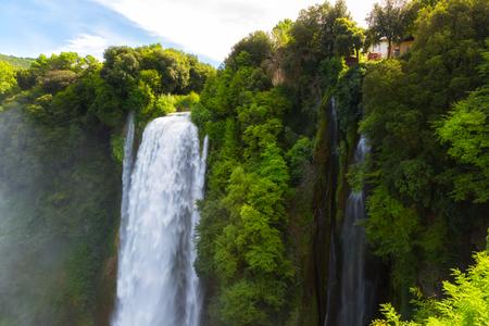 Cascata Delle Marmore waterfalls in Terni, Umbria, Italy Stock Photo - 116034293