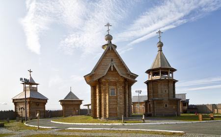 Salechard. kopleks storici, fortezza di Obdorskaya. Russia Archivio Fotografico