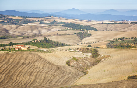 Beautiful autumn rural landscape of Tuscany