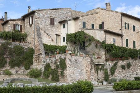 old town of Spello, Umbria, Italy 版權商用圖片