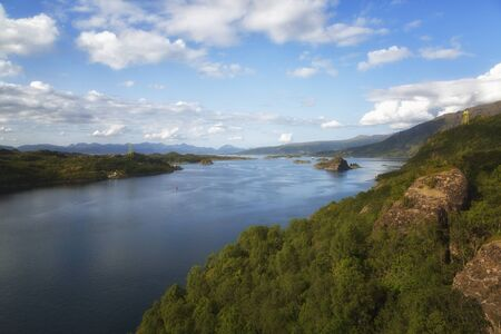 Norway. View of the fjord from the mountain on a summer day