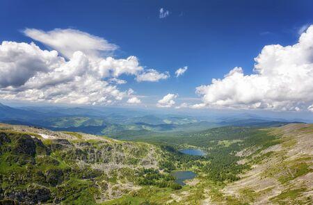 Top view of Karakol lakes in Altai mountains. Altai, Suberia Zdjęcie Seryjne