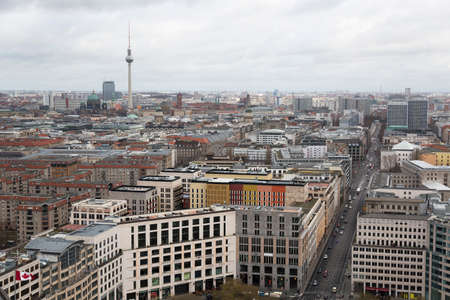 Day view of the central district of Berlin from an observation deck