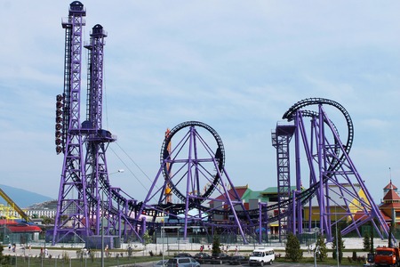 excitation: Attraction Quantum leap in the amusement park in the city of Sochi