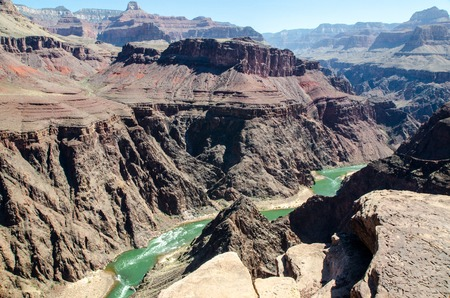 plateau point: The viev into Grand Canyon USA from Plateau Point