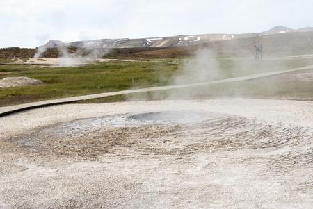 sulfide: Hot geothermal spring, Hveravellir, Iceland