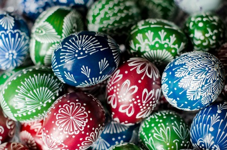 Hand dekoriert Eier für Ostern Lizenzfreie Bilder