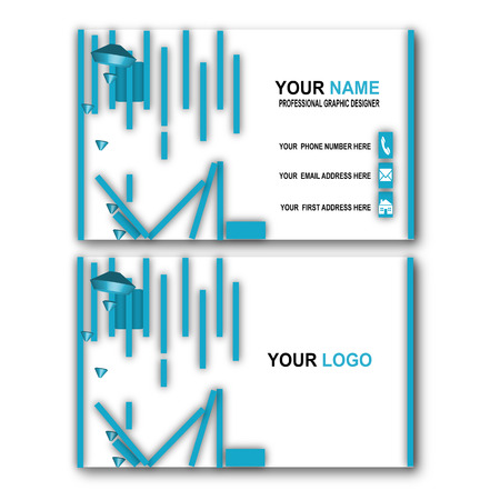 blue simple business card template