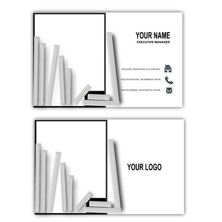 simple white and black business card Banco de Imagens