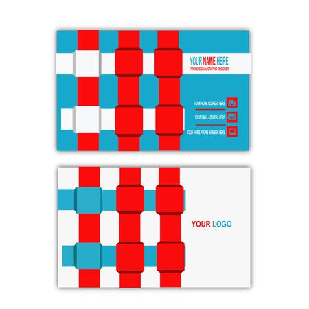 webbing concept business card template Banco de Imagens