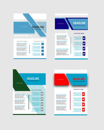 Collection of creative business flyer