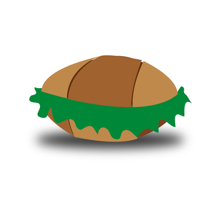 Bread and vegetables illustration vector