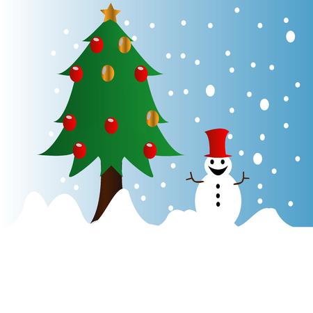 Merry Christmas illustratie vector Stock Illustratie