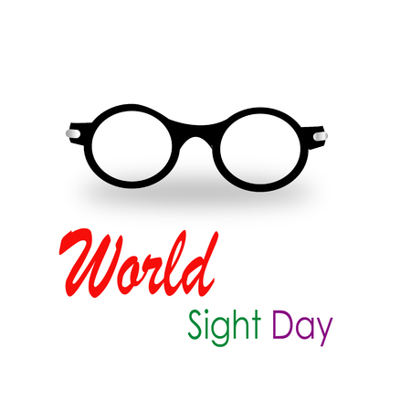 World sight day glasses celebration Illustration