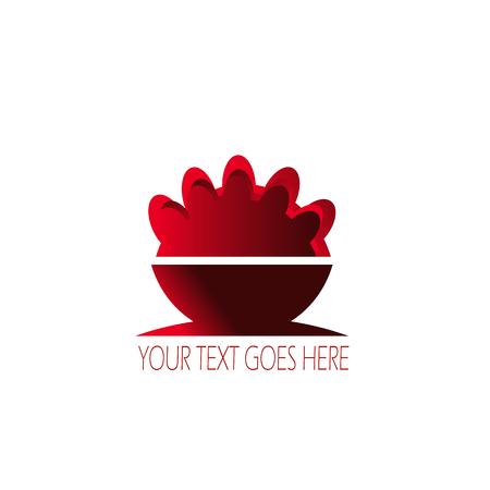 Voedsel schotel restaurant logo banner vectorillustratie