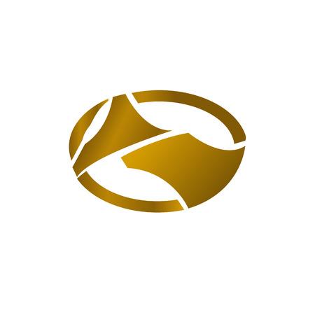 Luxe Logo goud concept voor otomotif contruction zakelijke tech