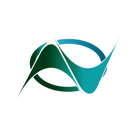 Groene en blauwe otomotif of technologie logo banner vector