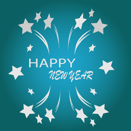 Gelukkig Nieuwjaar illustratie Stock Illustratie