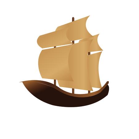vintage schipillustratie voor de dag van Columbus