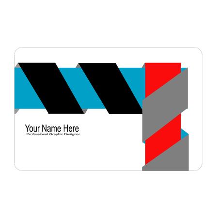 3d adreskaartje van het lintconcept