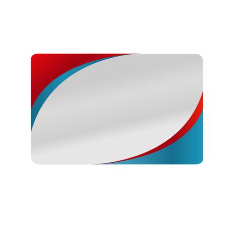Rood en blauw zilveren visitekaartje