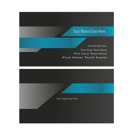 Technologie-visitekaartje blauw en zwart concept