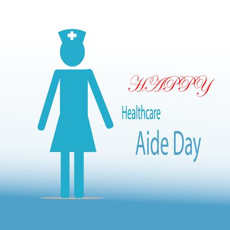 Gezondheidszorg Aide Day viering illustratie. Stock Illustratie