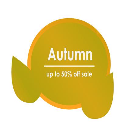 Herfst verkoop versieren met groene cirkel en bladeren voor winkelen verkoop of promo poster en frame leaflet of webbanner