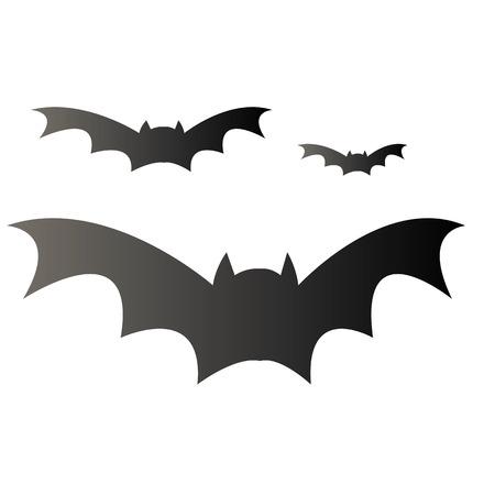 vleermuis illustratie voor happy halloween