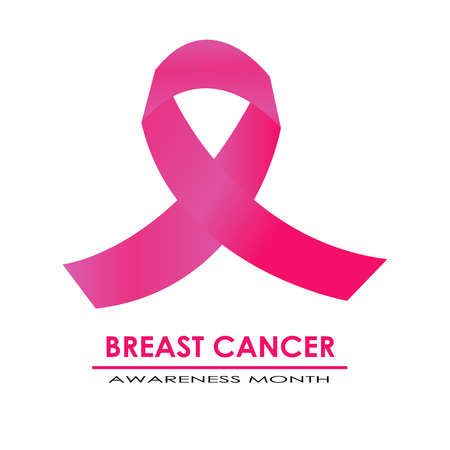 Roze lintsymbool van de borstkanker van de voorlichtingsmaand