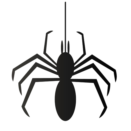 spider illustration for happy halloween