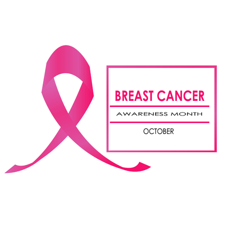 Pink Ribbon And The Pink Box Symbol For Breast Cancer Awareness