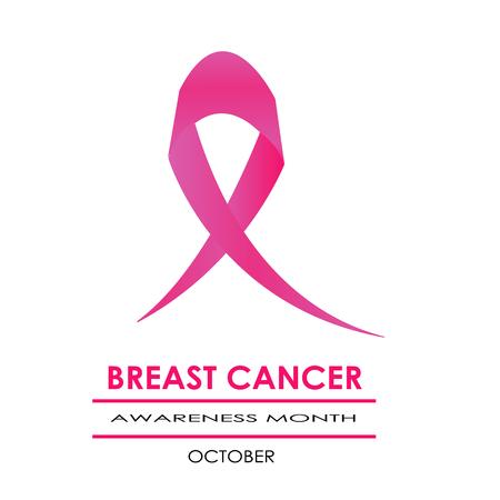 roze lint en het roze doossymbool voor de voorlichtingsmaand van borstkanker