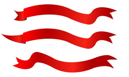 Rode linten banners geïsoleerde vector illustratie ontwerpset