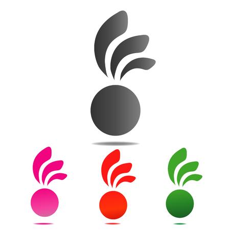 Cirkelpictogram bnner met abstracte illustratiereeks.