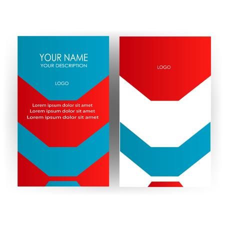 Nieuw modern adreskaartje op witte achtergrond, vectorillustratie.