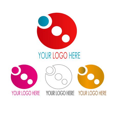 Het pictogramconcept van de cirkel op witte achtergrond, vectorillustratie.