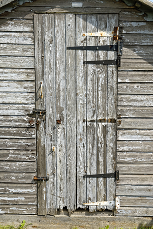 rotting: Rotting Wooden Shed Door